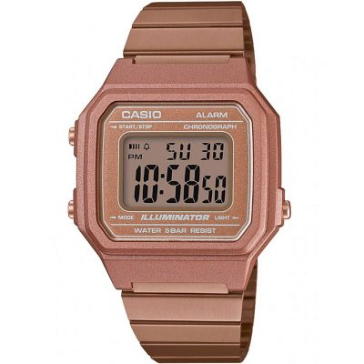 CASIO Collection Pink Stainless Steel Bracelet B-650WC-5AEF