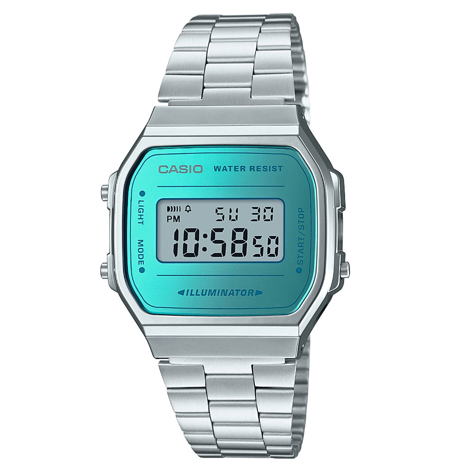 CASIO Collection Stainless Steel Bracelet A-168WEM-2EF