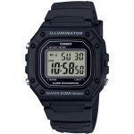 CASIO Collection Black Rubber Strap W-218H-1AVEF
