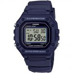CASIO Collection Blue Rubber Strap W-218H-2AVEF