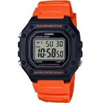 CASIO Collection Orange Rubber Strap W-218H-4B2VEF