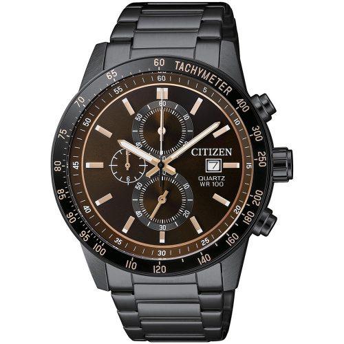 CITIZEN Urban Chronograph Black Stainless Steel Bracelet AN3605-55X
