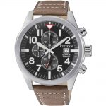 CITIZEN Chronograph Brown Leather Strap AN3620-01H