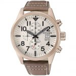 CITIZEN Chronograph Brown Leather Strap AN3623-02A