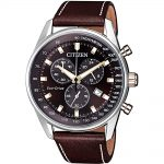 CITIZEN ECO-Drive Brown Leather Strap AT2396-19X