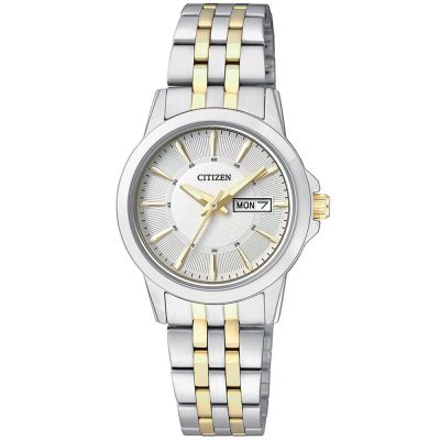 CITIZEN Ladies Two Tone Stainless Steel Bracelet EQ0608-55A