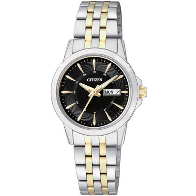 CITIZEN Ladies Two Tone Stainless Steel Bracelet EQ0608-55E