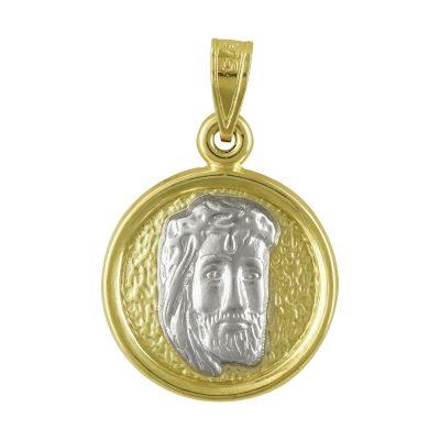 Δίχρωμο Χρυσό Φυλαχτό με τον Xριστουλή K9 PA94409