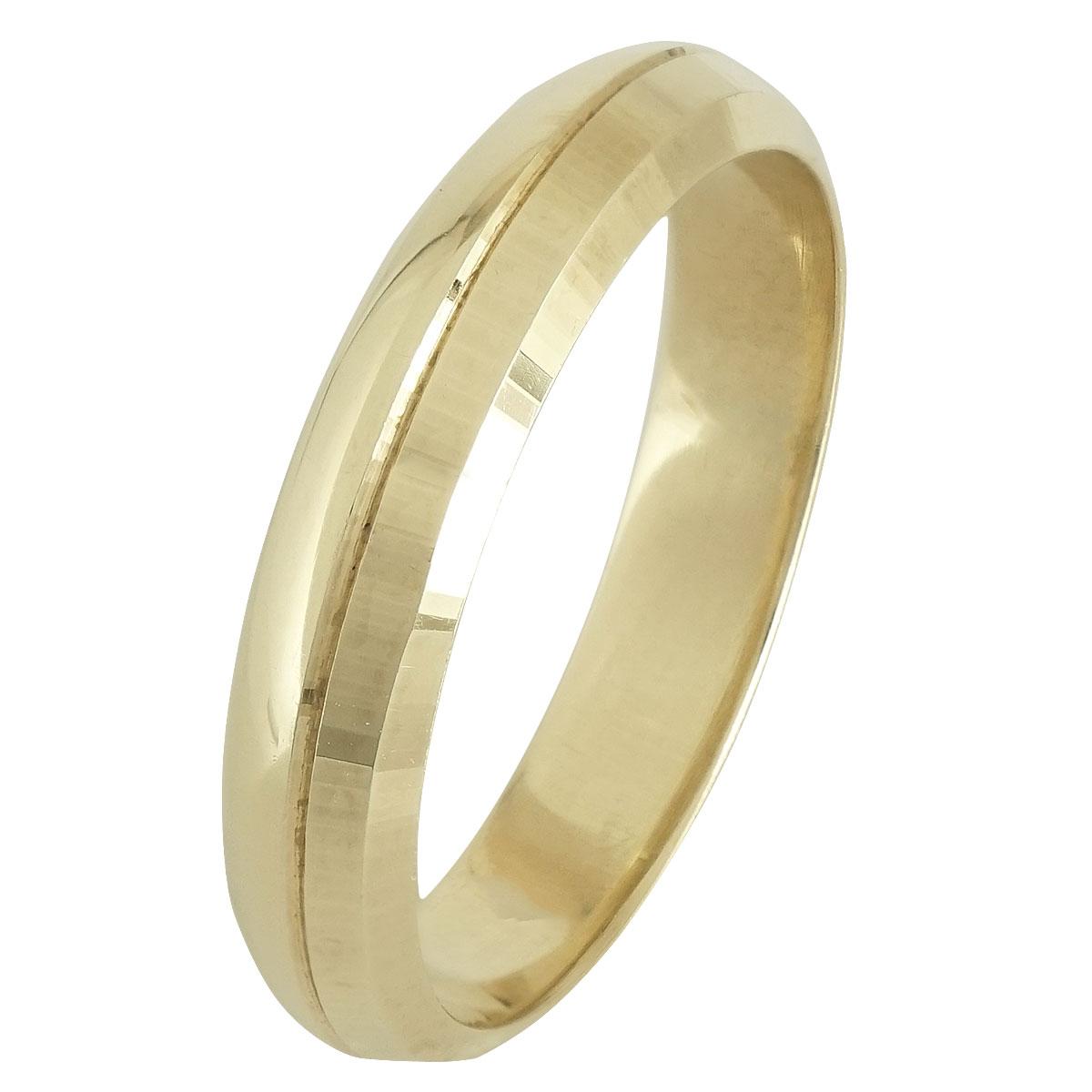 Ασημένια Βέρα Γάμου Κίτρινη Επιχρυσωμένη WRS247