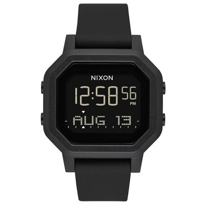 NIXON Siren Black Rubber Strap A1210-001