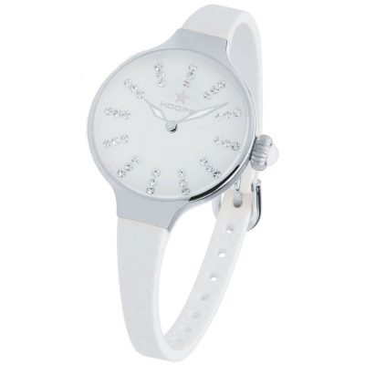 HOOPS Nouveau Cherie Diamond Crystals White Rubber Strap 2594LS02