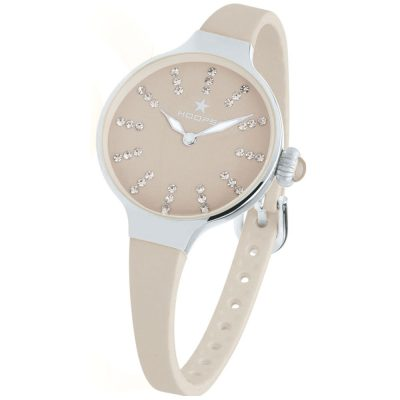HOOPS Nouveau Cherie Diamond Crystals Grey Rubber Strap 2594LS05