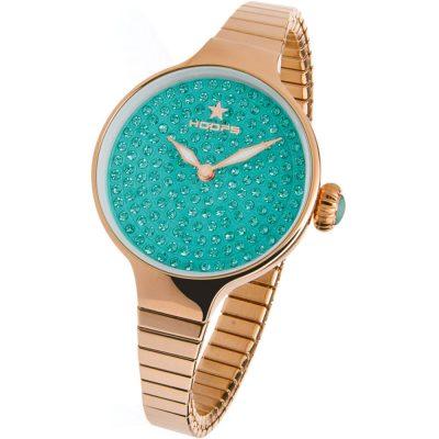 HOOPS Cherie Diamond Crystals Elastic Rose Gold Bracelet 2601LRG01