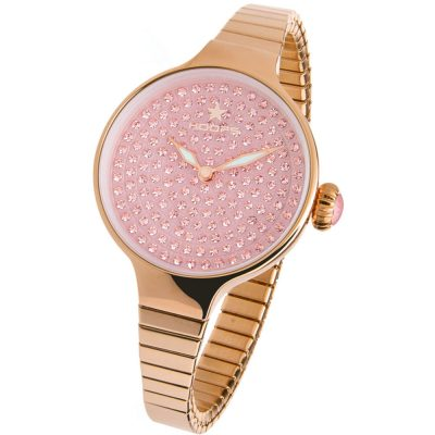 HOOPS Cherie Diamond Crystals Elastic Rose Gold Bracelet 2601LRG02