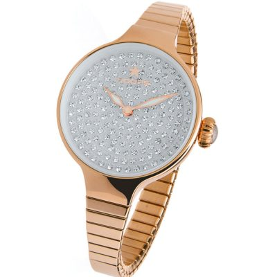 HOOPS Cherie Diamond Crystals Elastic Rose Gold Bracelet 2601LRG03