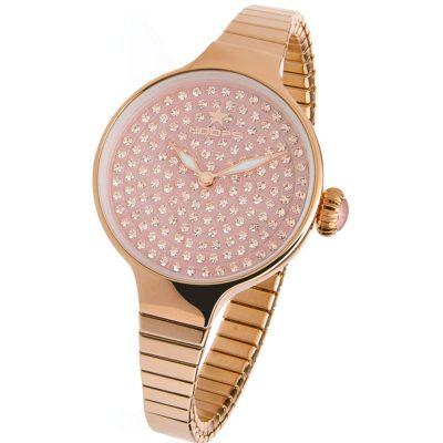 HOOPS Cherie Diamond Crystals Elastic Rose Gold Bracelet 2601LRG04