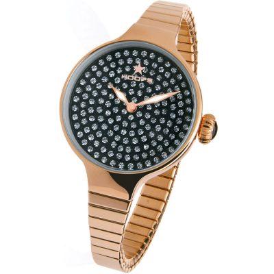 HOOPS Cherie Diamond Crystals Elastic Rose Gold Bracelet 2601LRG06