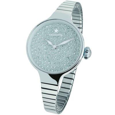 HOOPS Cherie Diamond Crystals Elastic Silver Metallic Bracelet 2601LS03