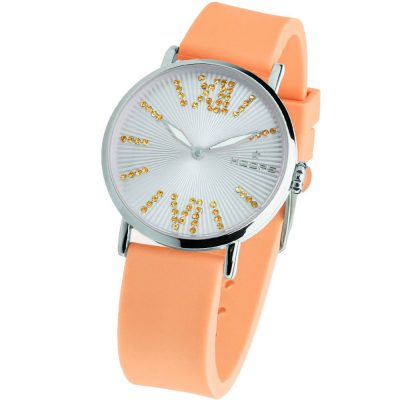HOOPS Folie Crystals Orange Rubber Strap 2603LS05
