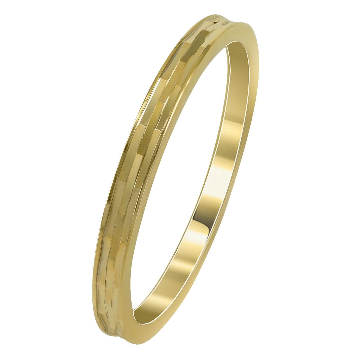 Kίτρινη Χρυσή Βέρα Γάμου WR258 k14