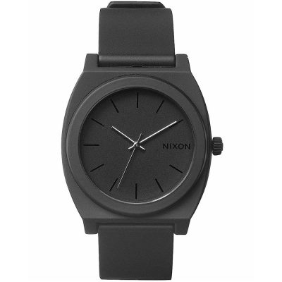 NIXON Time Teller Black Rubber Strap A119-524