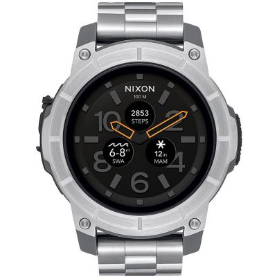 NIXON Mission Smartwatch Stainless Steel Bracelet A1216-130