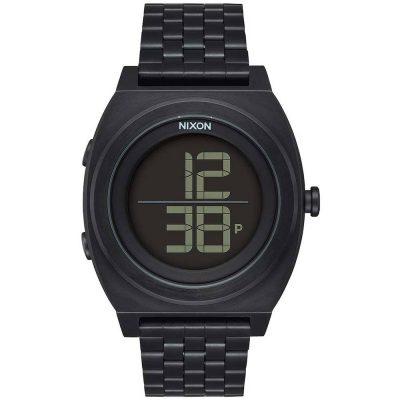 NIXON Time Teller Digi Black Stainless Steel Bracelet A948-001