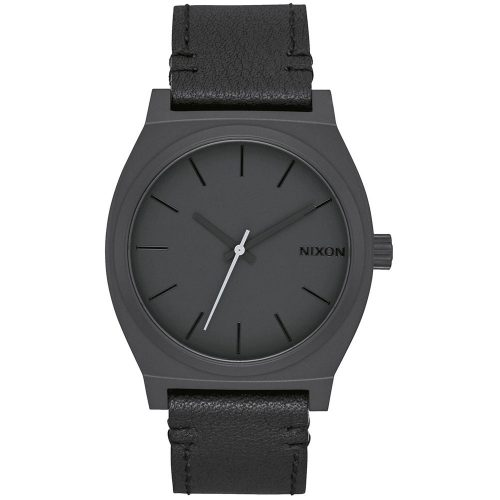 NIXON Time Teller Black Leather Strap A045-2738