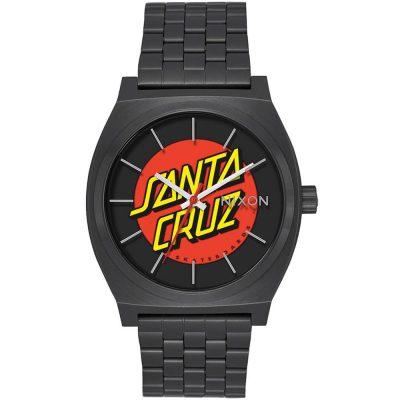 ΝΙΧΟΝ Time Teller Santa Cruz Black Stainless Steel Bracelet A045-2895