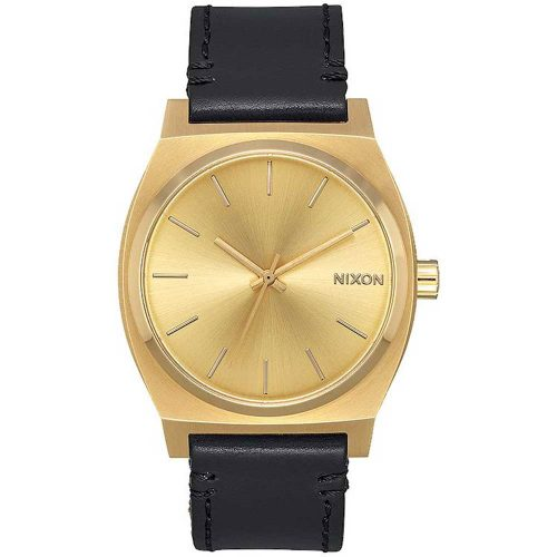 NIXON Time Teller Black Leather Strap A1137-2591