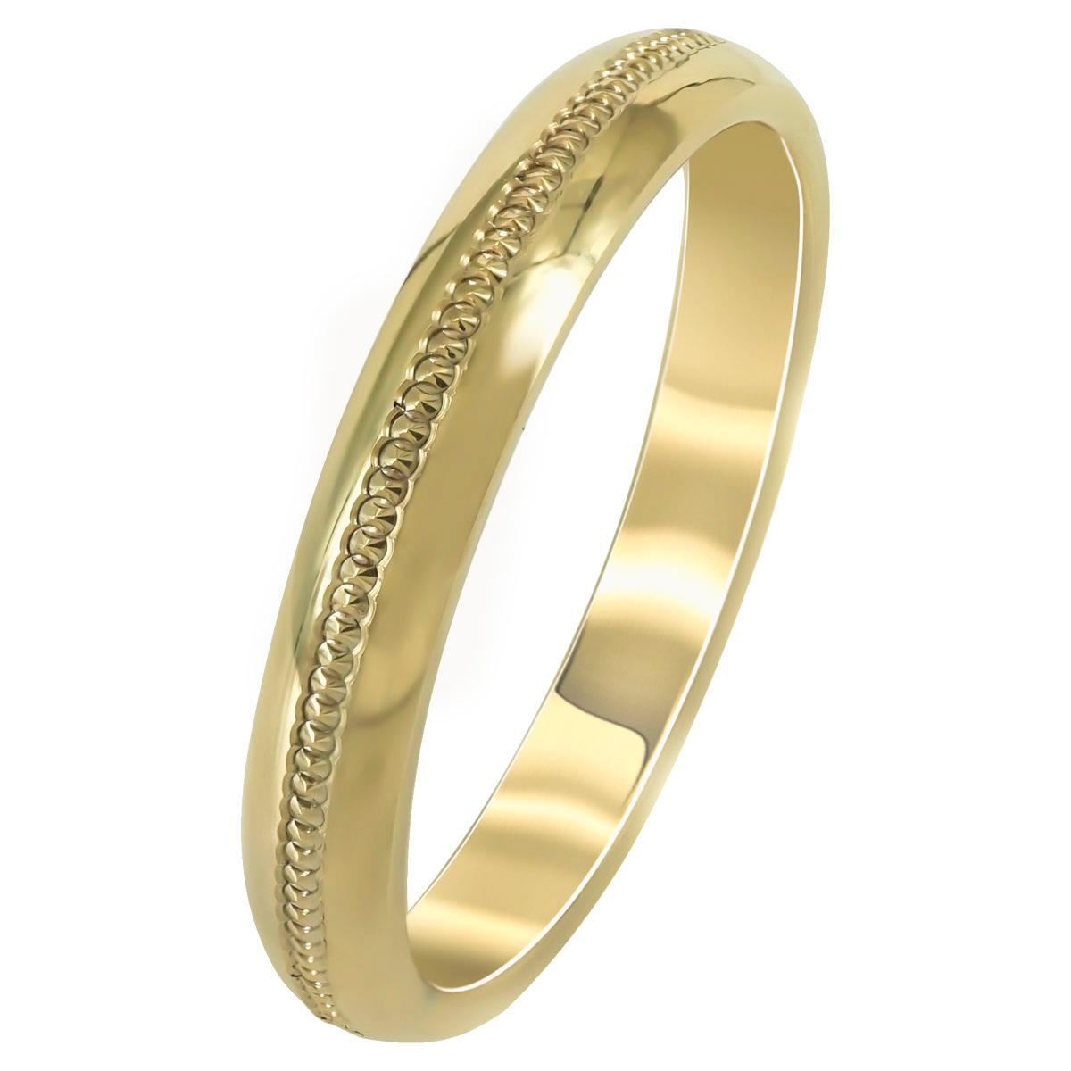 Kίτρινη Χρυσή Βέρα Γάμου WR253 k14