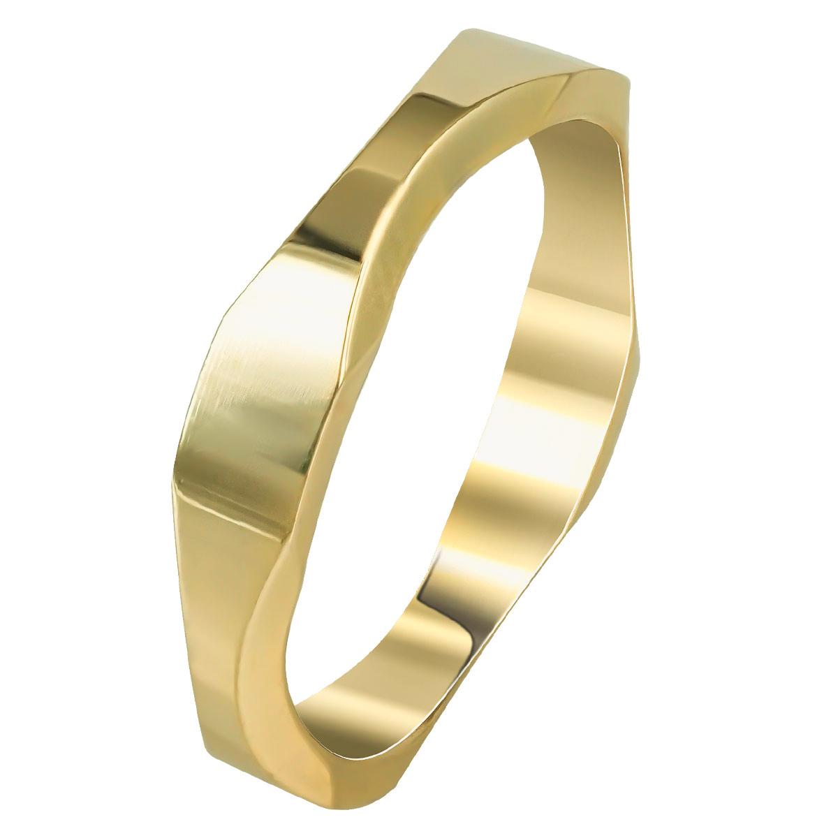 Kίτρινη Χρυσή Βέρα Γάμου WR254 k14