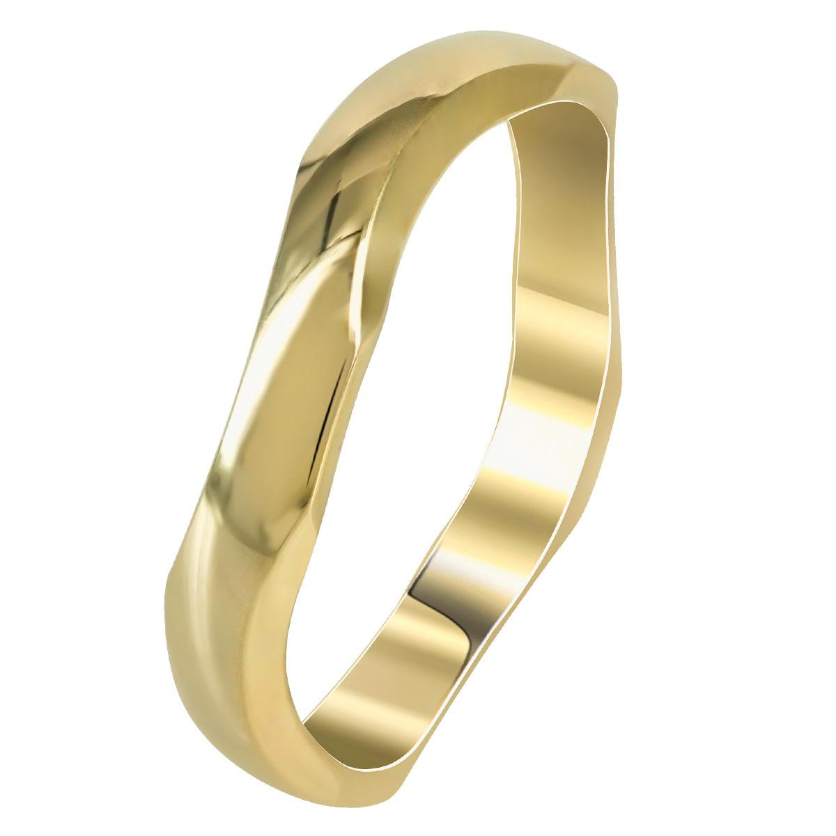 Kίτρινη Χρυσή Βέρα Γάμου WR256 k14