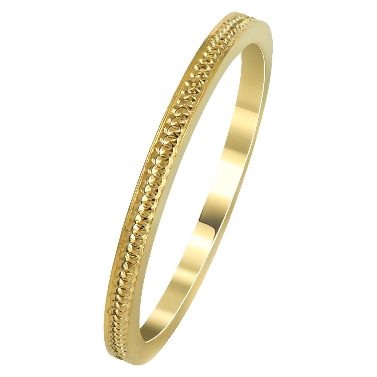 Kίτρινη Χρυσή Βέρα Γάμου WR259 k14