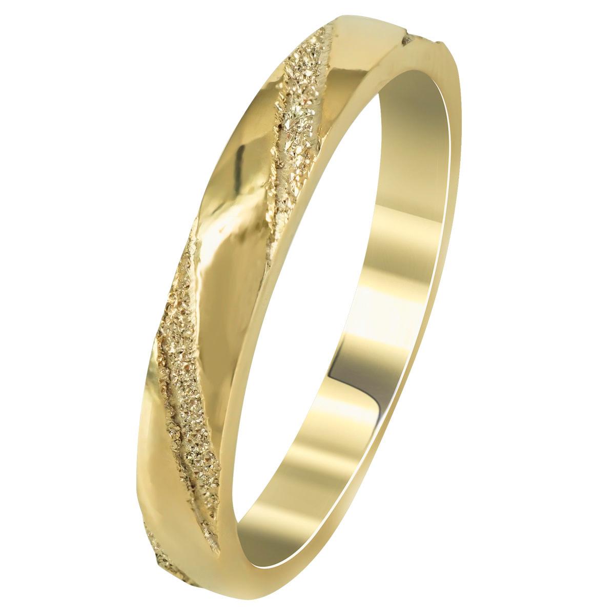 Kίτρινη Χρυσή Βέρα Γάμου WR261 k14