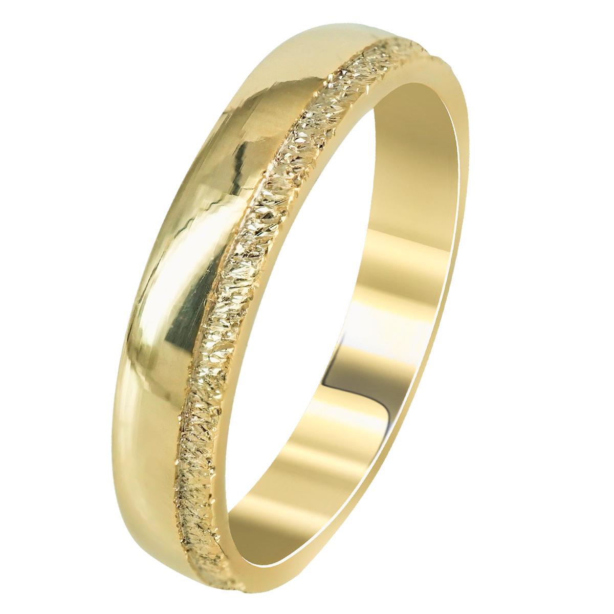 Kίτρινη Χρυσή Βέρα Γάμου WR263 k14