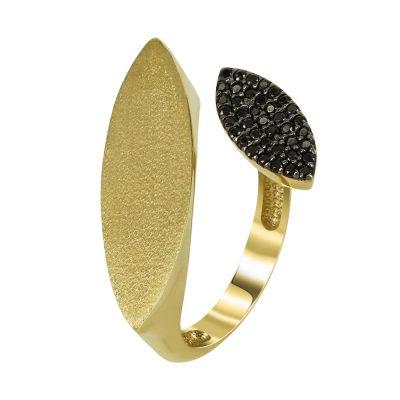 Kίτρινο Χρυσό Μοντέρνο Δαχτυλίδι Κ14 DX94488
