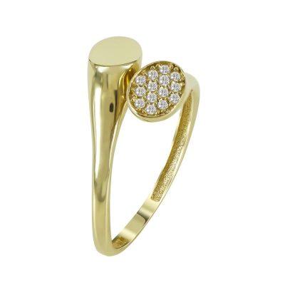 Kίτρινο Χρυσό Μοντέρνο Δαχτυλίδι Κ14 DX97851