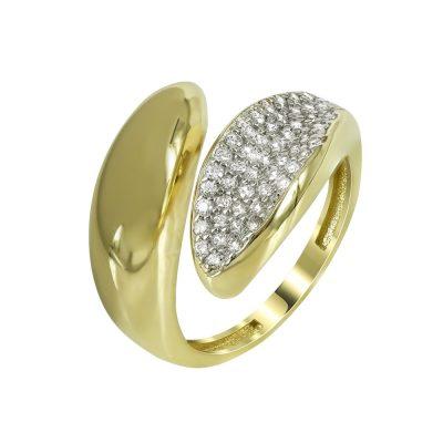Kίτρινο Χρυσό Μοντέρνο Δαχτυλίδι Κ14 DX98077