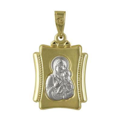 Δίχρωμο Χρυσό Φυλαχτό με την Παναγίτσα K9 PA94468