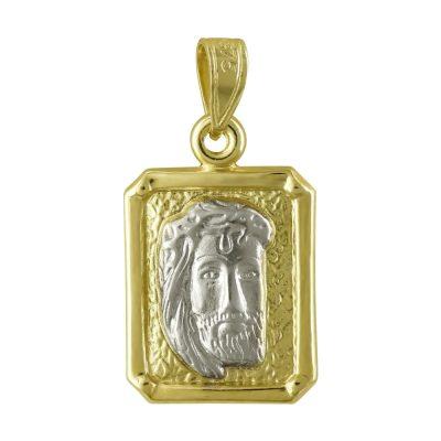 Δίχρωμο Χρυσό Φυλαχτό με τον Χριστούλη K9 PA94363