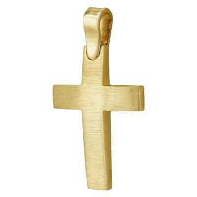 Σταυρός Βάπτισης Ανδρικός Σε Κίτρινο Χρυσό 14 Καρατίων ST93839
