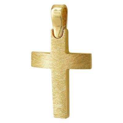 Σταυρός Βάπτισης Ανδρικός Σε Κίτρινο Χρυσό 14 Καρατίων ST93387