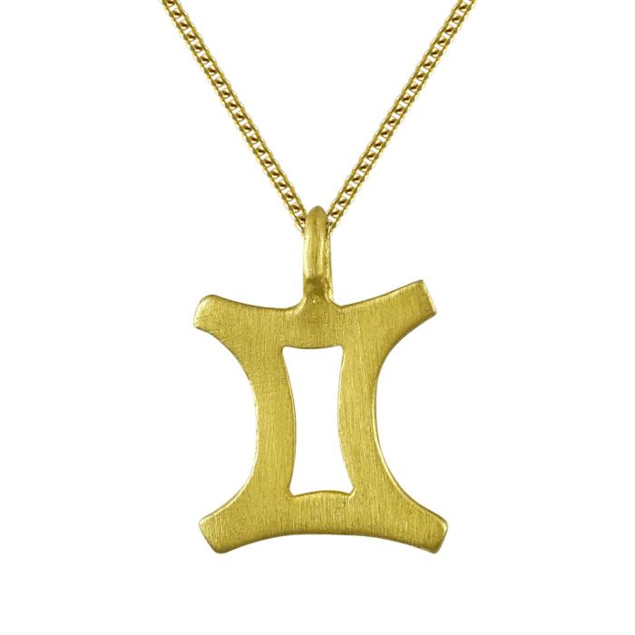 Κίτρινο Χρυσό Ζώδιο ΔΙΔΥΜΟΣ Κ14 ZD215