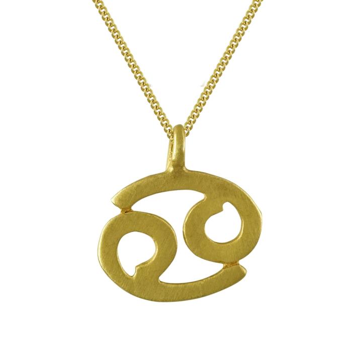 Κίτρινο Χρυσό Ζώδιο ΚΑΡΚΙΝΟΣ Κ14 ZD216