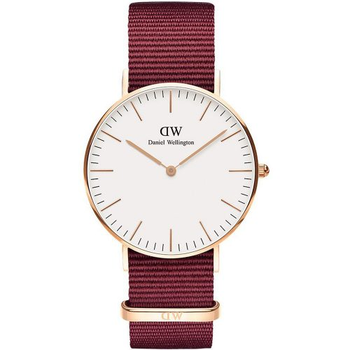 DANIEL WELLINGTON Classic Roselyn 36 mm Red Fabric Strap DW00100271