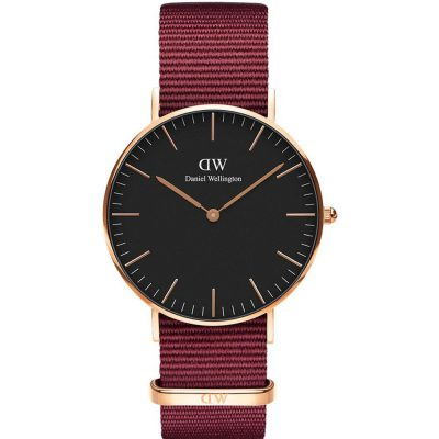 DANIEL WELLINGTON Classic Roselyn 36 mm Red Fabric Strap DW00100273