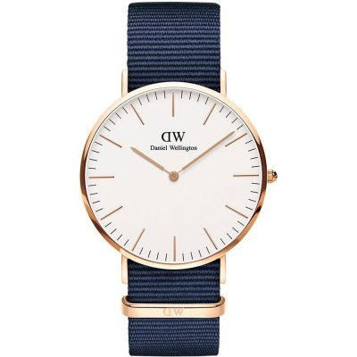 DANIEL WELLINGTON Classic Bayswater 40 mm Blue Fabric Strap DW00100275