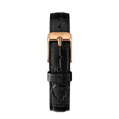 DANIEL WELLIGTON Classic Petite Black Leather Strap Rose Gold 28mm DW00200182