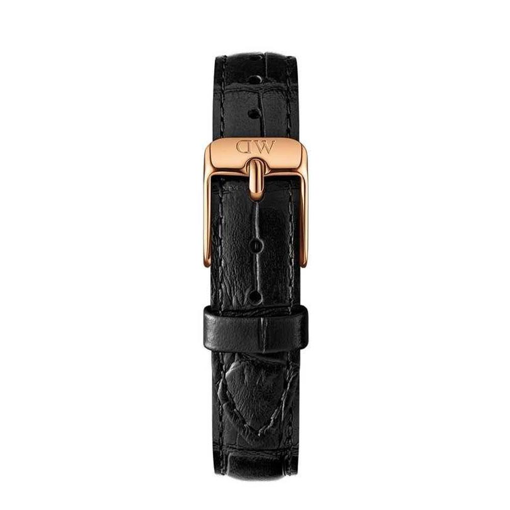 DANIEL WELLIGTON Classic Petite Black Leather Strap Rose Gold 28mm DW00200182